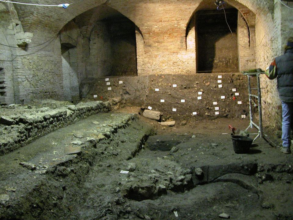 L'area in corso di scavo (Archivio Soprintendenza per i Beni Archeologici del Veneto)