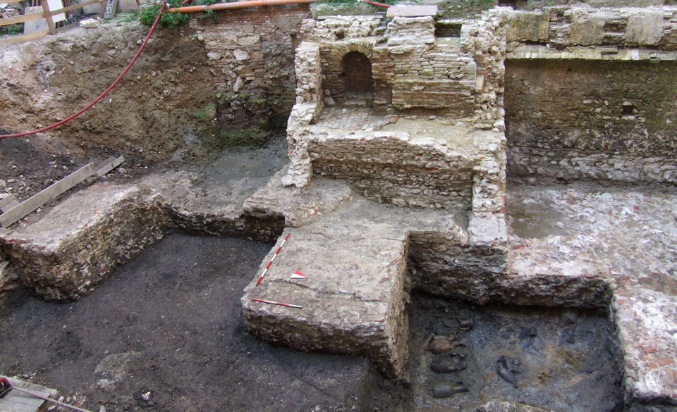 Veduta dell'area di scavo da est (Archivio Soprintendenza per i Beni Archeologici del Veneto)