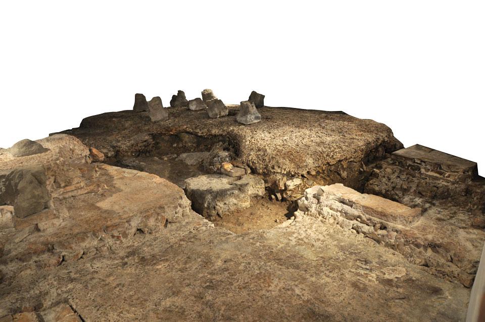 Veduta dell'ambiente con ipocausto (Archivio Soprintendenza per i Beni Archeologici del Veneto)
