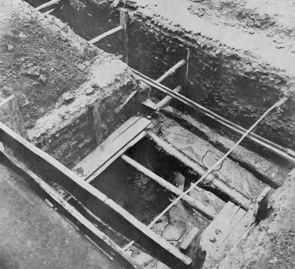 La strada in corso di scavo  (Archivio Soprintendenza per i Beni Archeologici del Veneto)