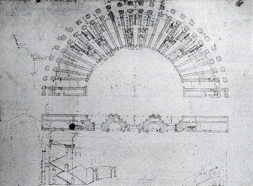 Il teatro nei disegni di Andrea Palladio (R.I.B.A., X, 1r)